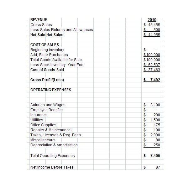 28 Small Business Income Statement Template in 2020 ...