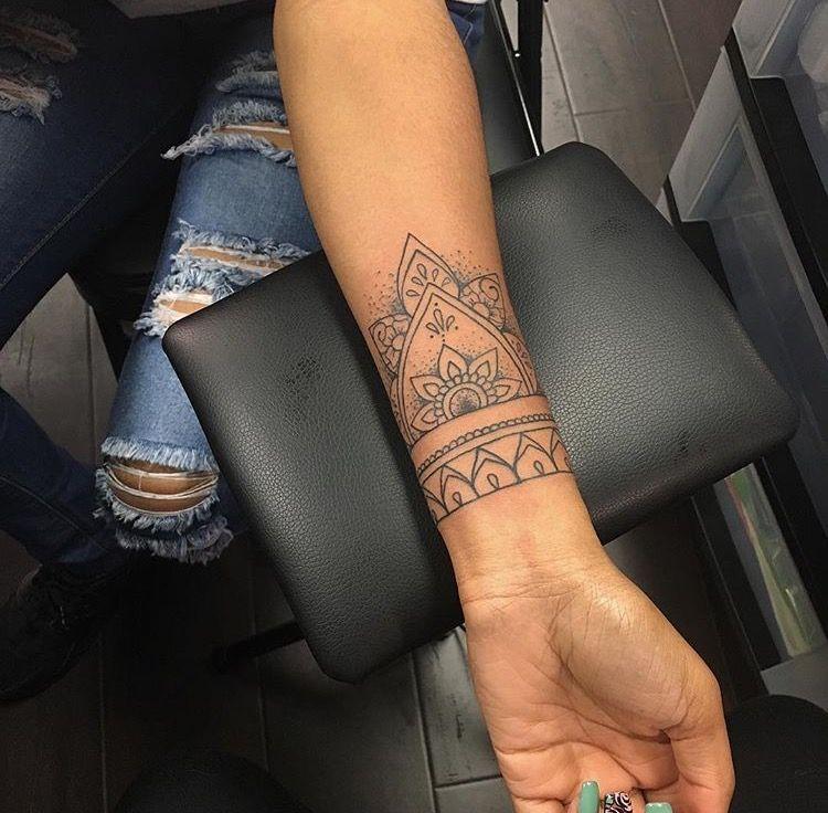 Pin By Christell Bechtold On Tattoo Mandala Wrist Tattoo Tattoo Designs Wrist Cuff Tattoo