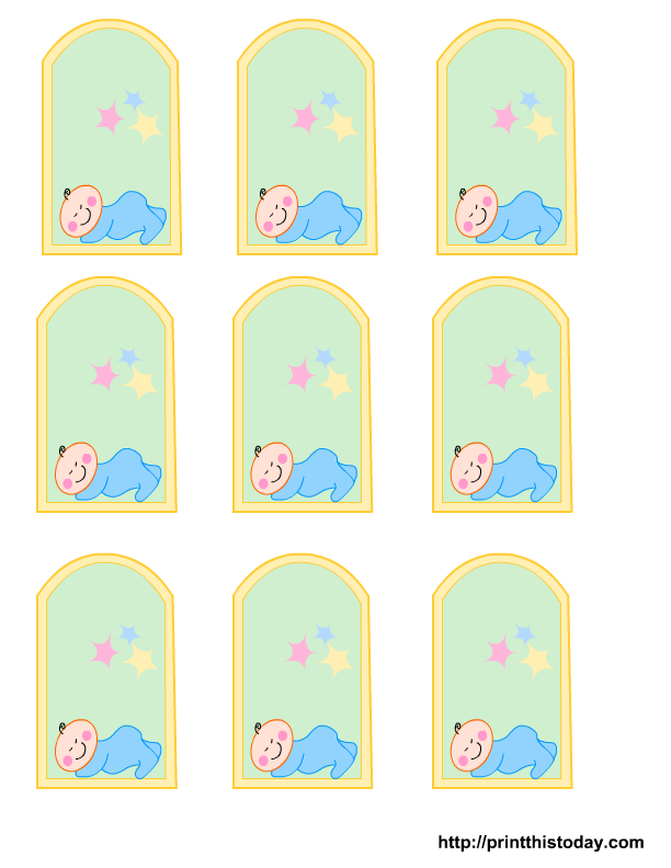 Blank Baby Boy Shower Food Tags | Free Printable Baby Girl, Boy Baby Shower  Favor