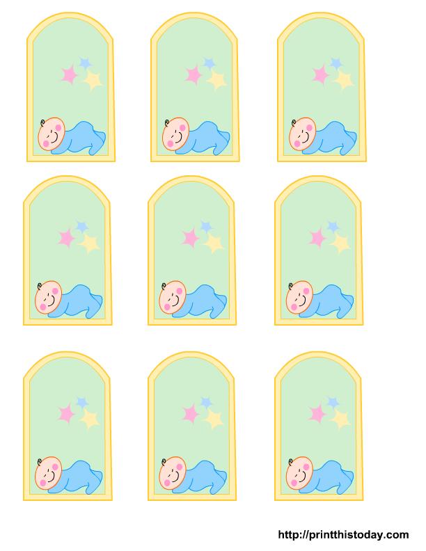 blank baby boy shower food tags  Free Printable baby girl boy