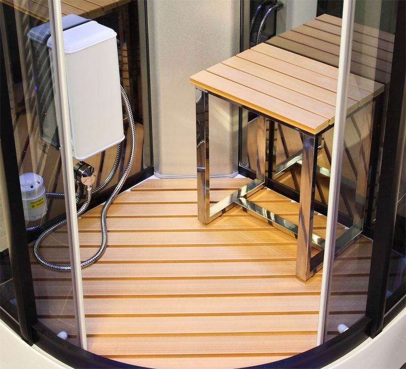 Furniture Design, The Great Design Of The Teak Shower Stools With ...