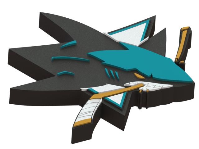 San Jose Sharks ice hockey team logo. #Icehockey #NHL #logo #3dmodel #SanJoseSharks