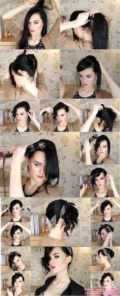 Amazing Bandana Hairstyles Top 10 Simple Ways Tutorials Rockabilly Natural Hairstyles Runnerswayorg