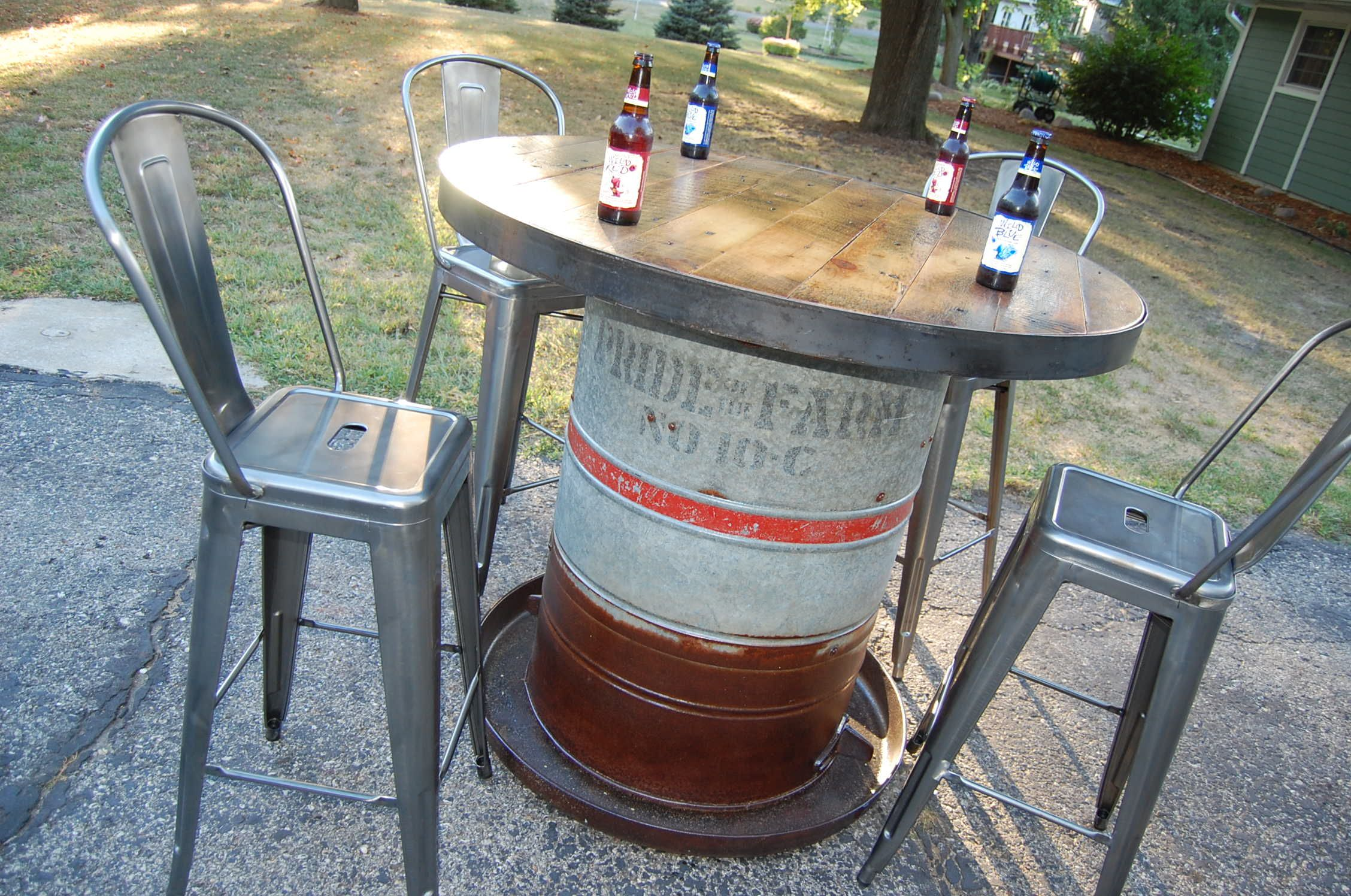 Pin By Sawtooth Innovations On Bars Pub Tables Spring Porch Decor Pig Feeder Outdoor Deco