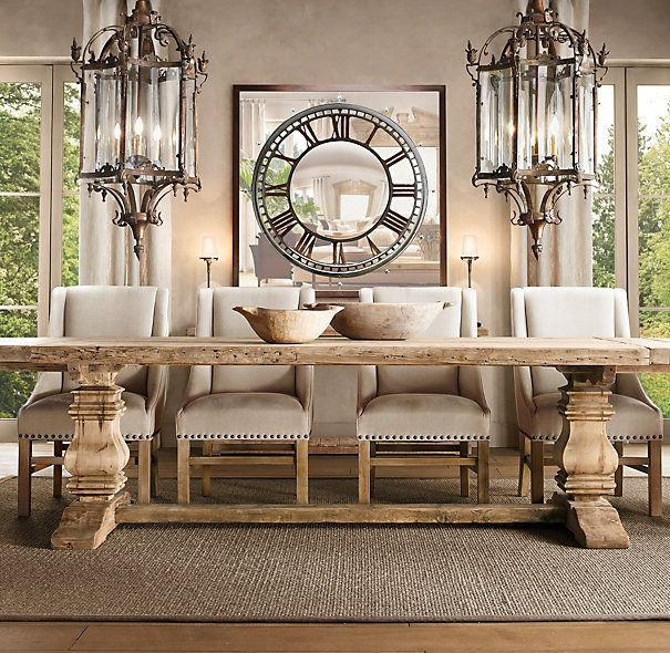 Love This Reclaimed Pine Trestle Table From Restoration Hardware