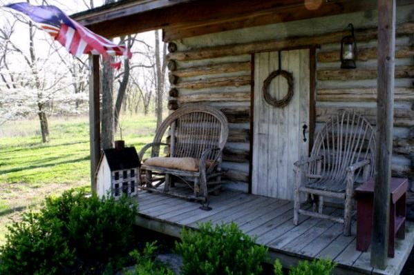 I think every log cabin should have a front porch