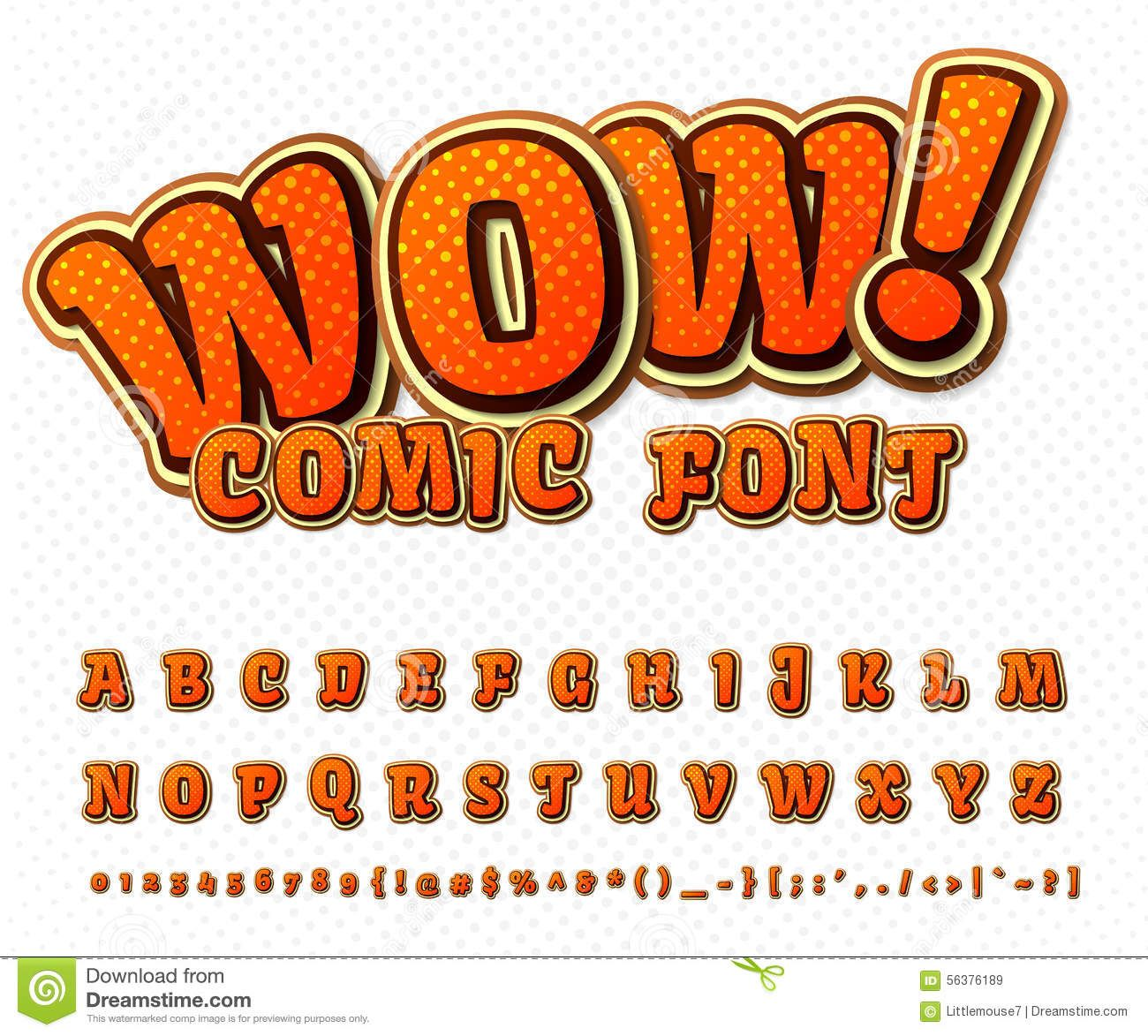 Creative Comic Font. Vector Alphabet In Style Pop Stock