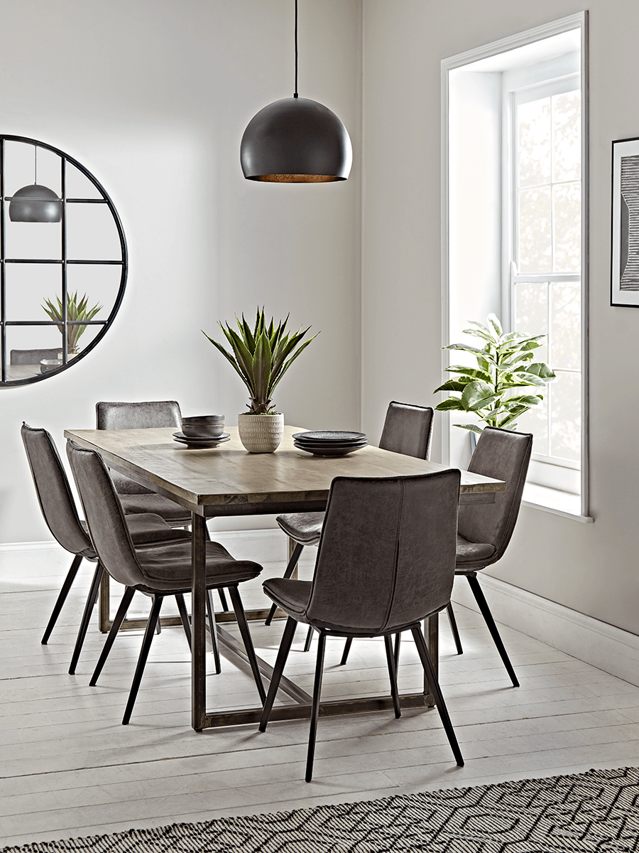 Industrial Iron Dining Table In 2020 Dining Table Dining Room Table Hairpin Dining Table