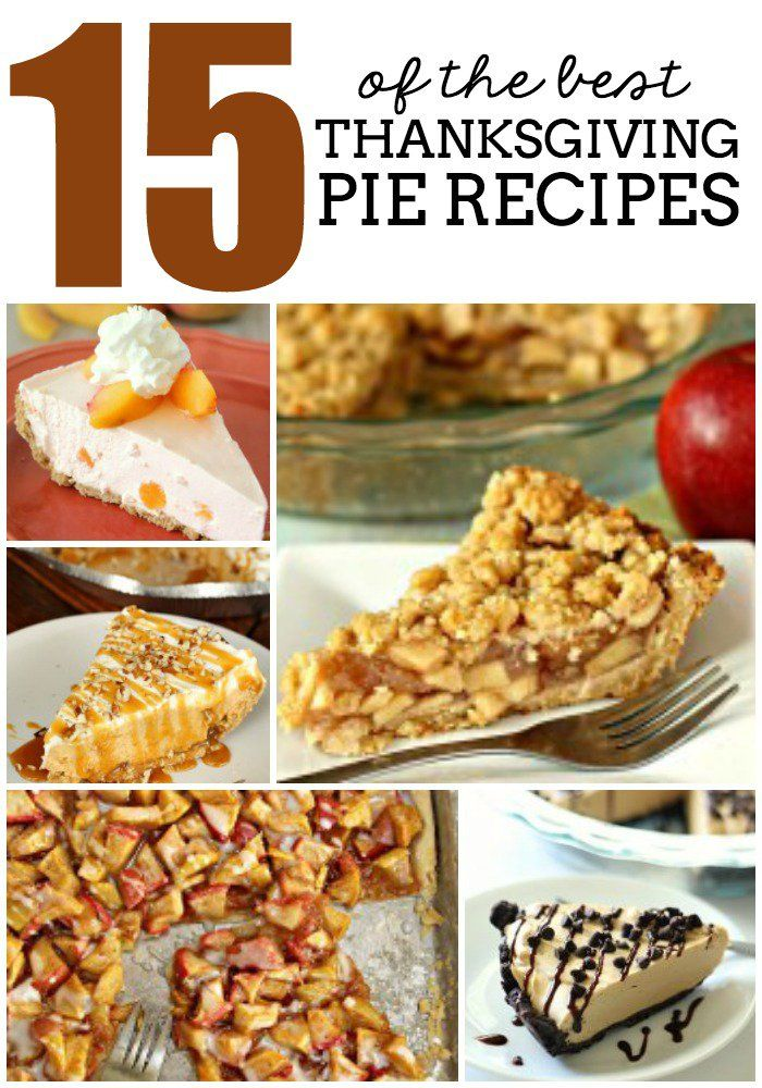 15 of the BEST Thanksgiving Pie Recipes | Six Sisters' Stuff | Bloglovin'