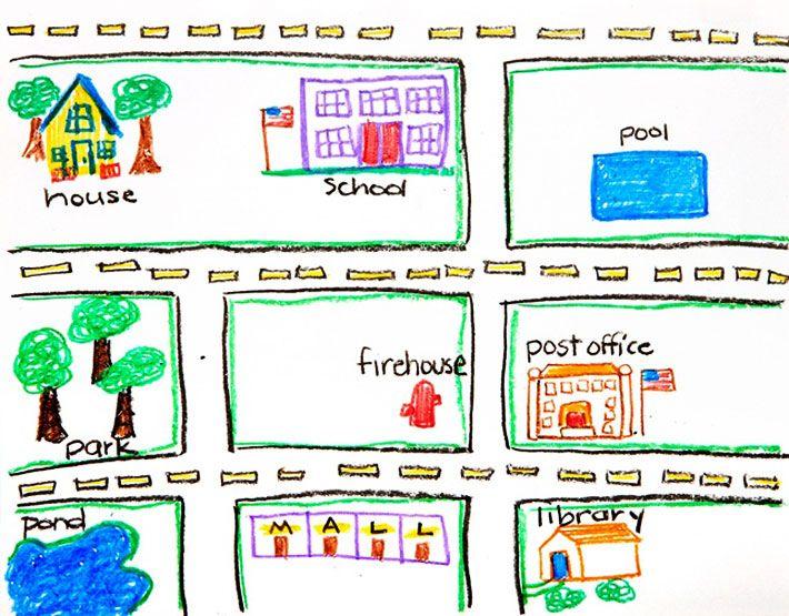 neighborhood map 710Ã 555 kids craft pinterest