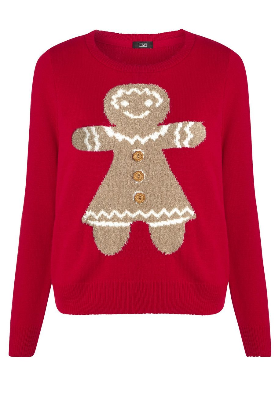Clothing at Tesco | F&F Gingerbread Man Jumper > knitwear > Women\'s ...