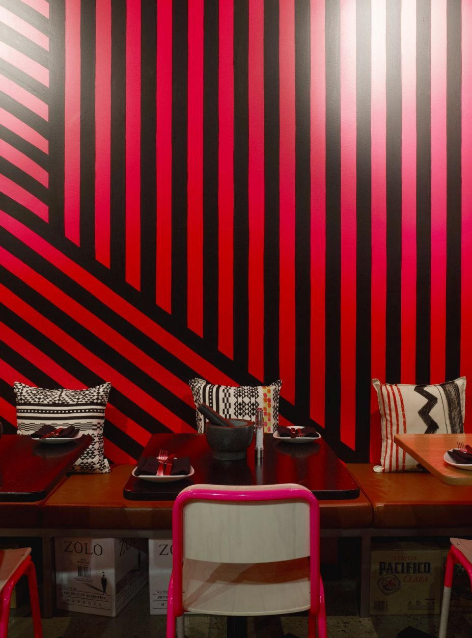 furniture: dining room designs vibrant red and black lines as the