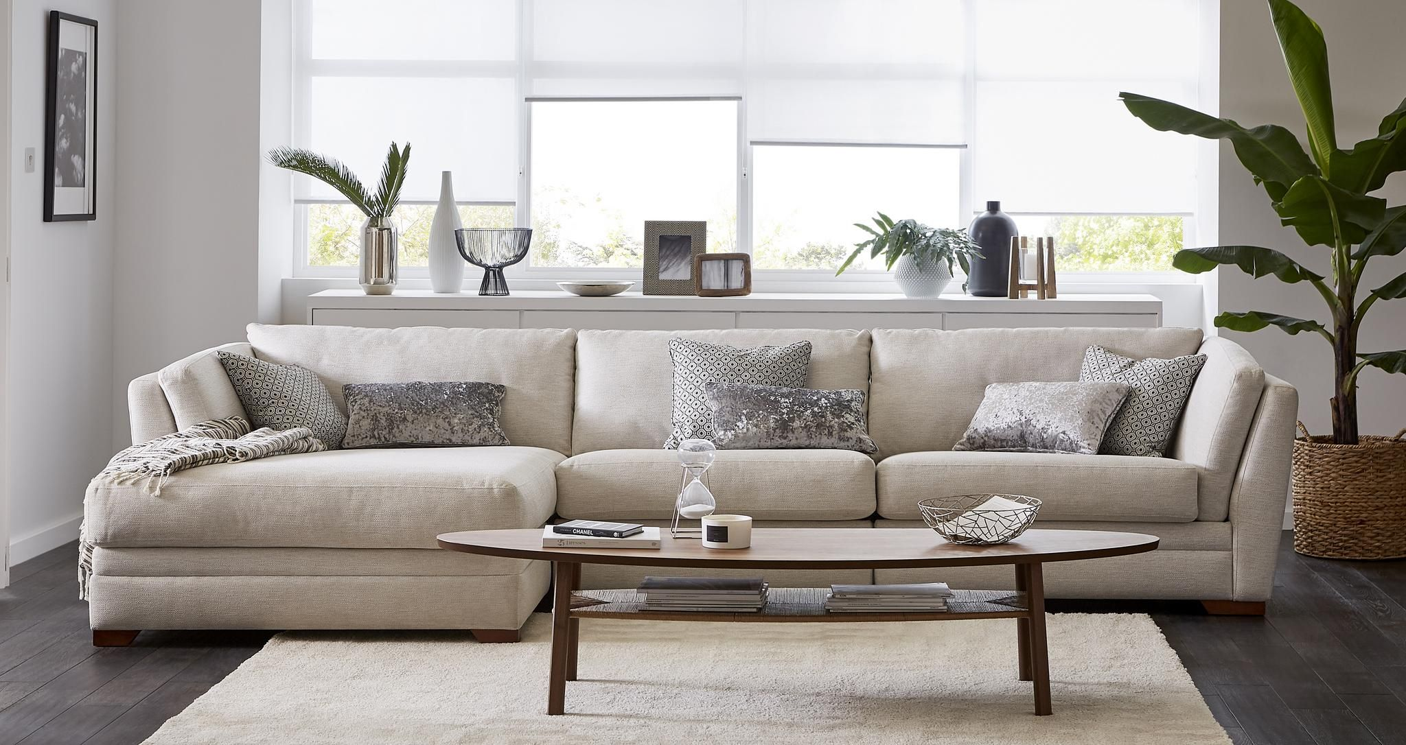Long Beach Left Hand Facing Large Chaise Sofa Small Chaise Sofa Chaise Sofa Corner Sofa Living Room
