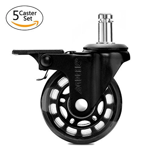 agptek office chair casters heavy duty with screwdriver safe roller