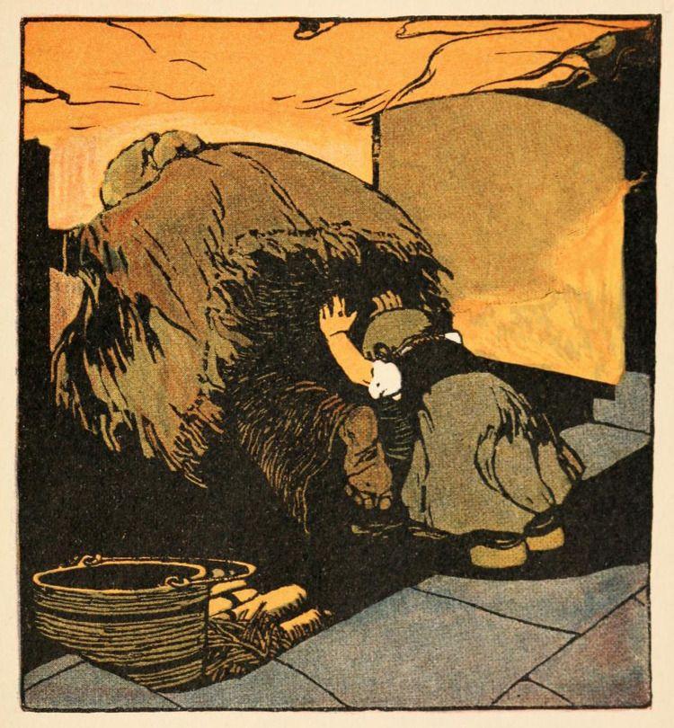 Hansel and Gretel - illustration by Albert Weisgerber (Germany, ca. 1900)