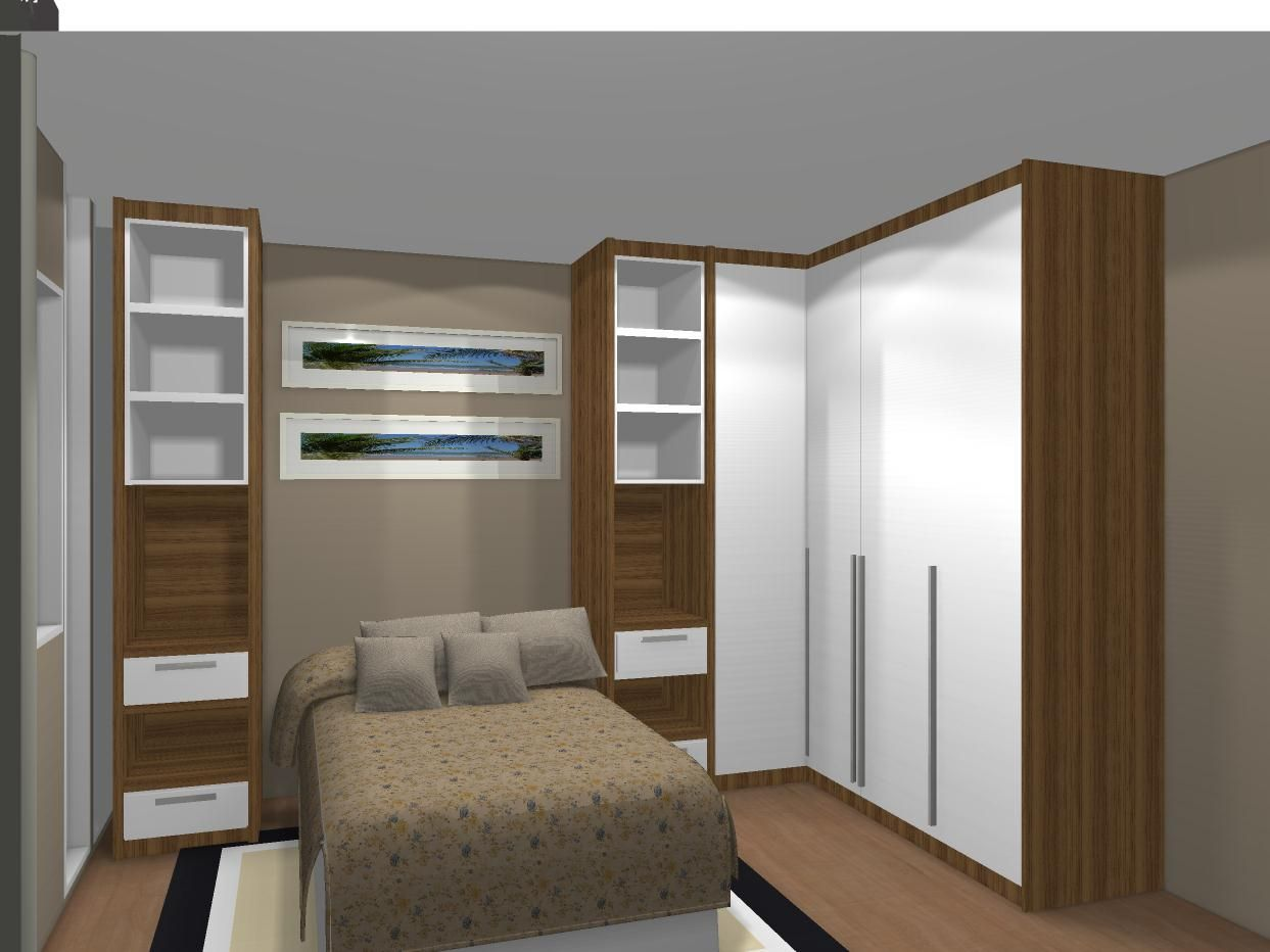Resultado De Imagem Para Apartamento Terreo Mrv Decorado Quarto  ~ Quarto De Casal Planejado De Apartamento Pequeno