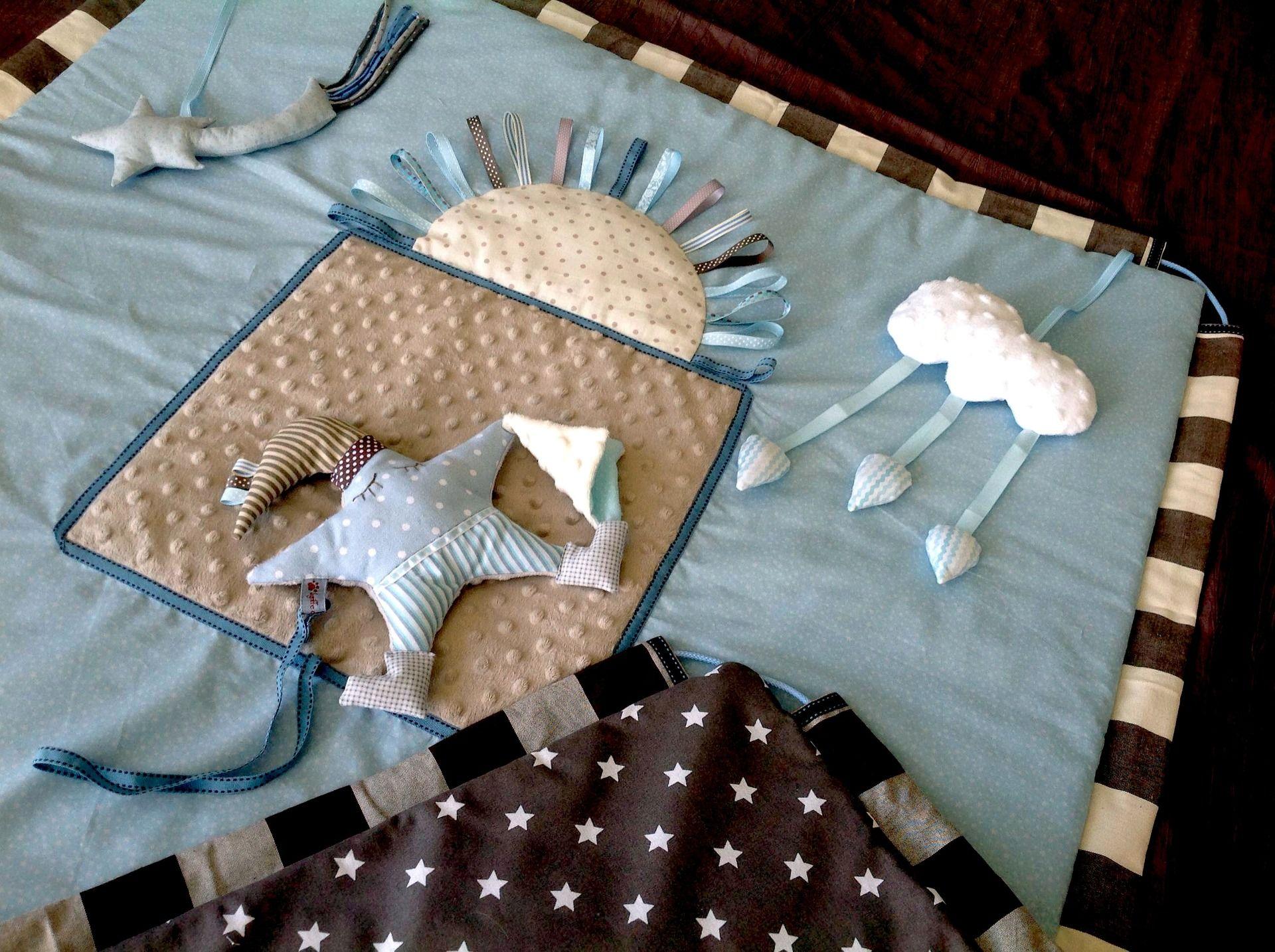 Tapis D Éveil Sac A Jouets tapis d'éveil sensoriel transformable en sac de rangement