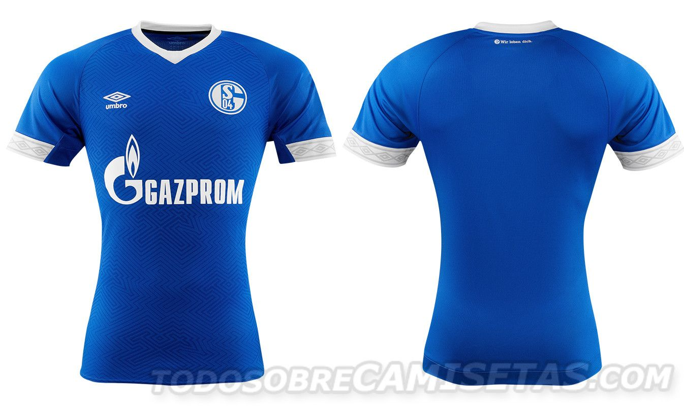 Bundesliga 2018 19 Kits Schalke 04 Home Camisetas Remeras Deportivas Deportes