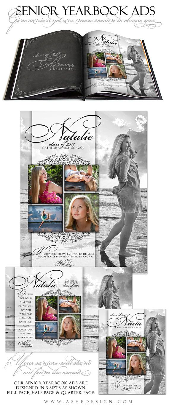 Half Price Sale - Senior Yearbook Ads Photoshop Templates - SIMPLY ...