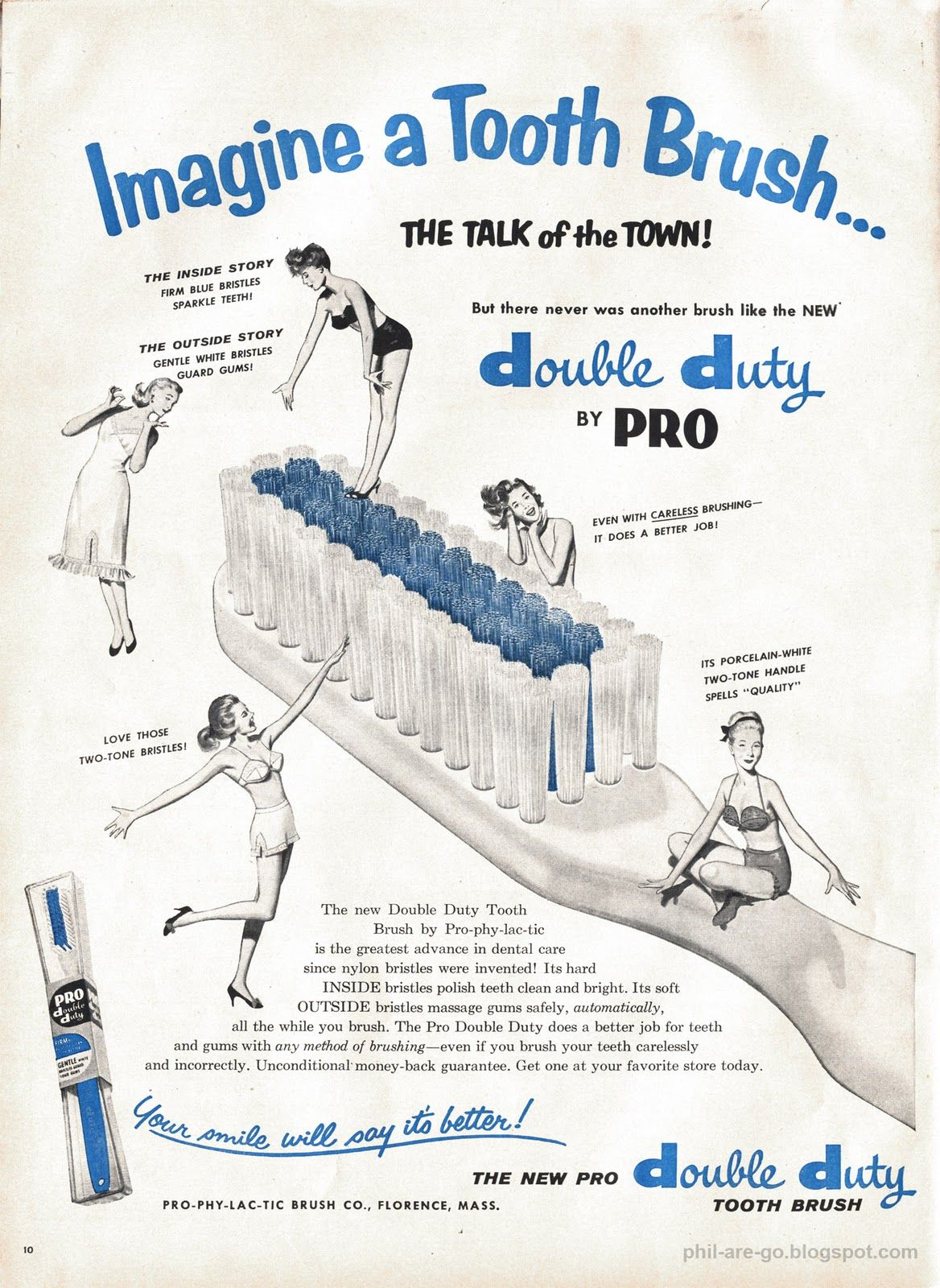 Double Duty Toothbrush Prevents Things Brushing Teeth Vintage Ads Old Advertisements