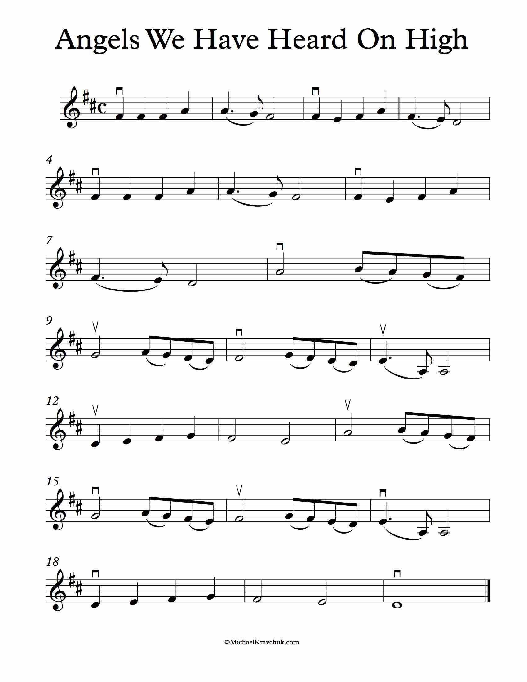 Angels we have heard on high sheet music violin d major music angels we have heard on high sheet music violin d major hexwebz Gallery