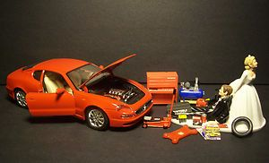 auto mechanic maserati 3200 gt red 1998 wedding cake topper funny