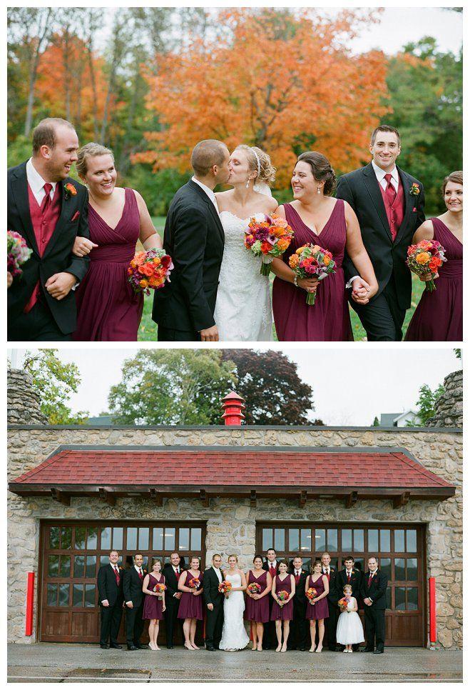Katie and Nick's Awe-Inspiring Autumn Wedding in Door County. Photo: The McCartneys Photograraphy
