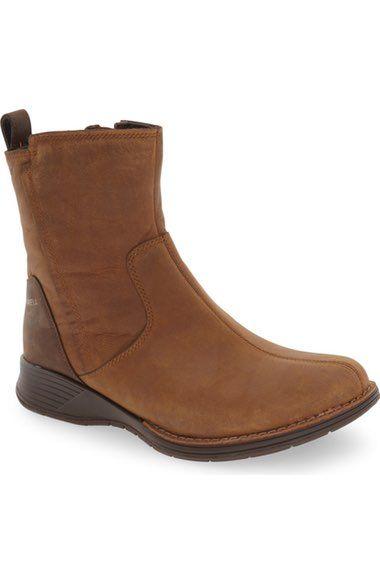 Merrell 'Travvy' Waterproof Zip Bootie (Women) available at #Nordstrom