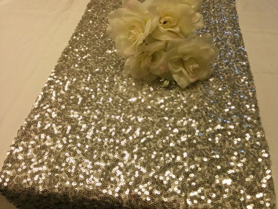 SEQUINS RUNNER COLORS And Sizes Sequin Metallic Table Runner Silver,  Champagne, Gold, Purple