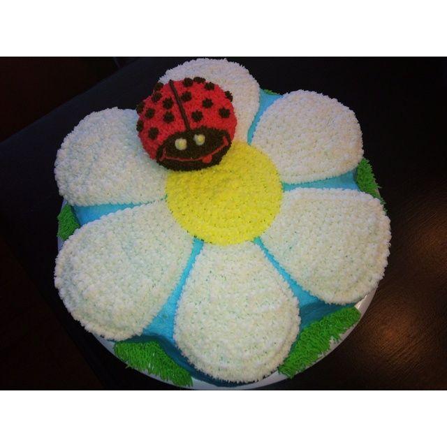 wilton dancing daisy cake ideas birthday cake I made using