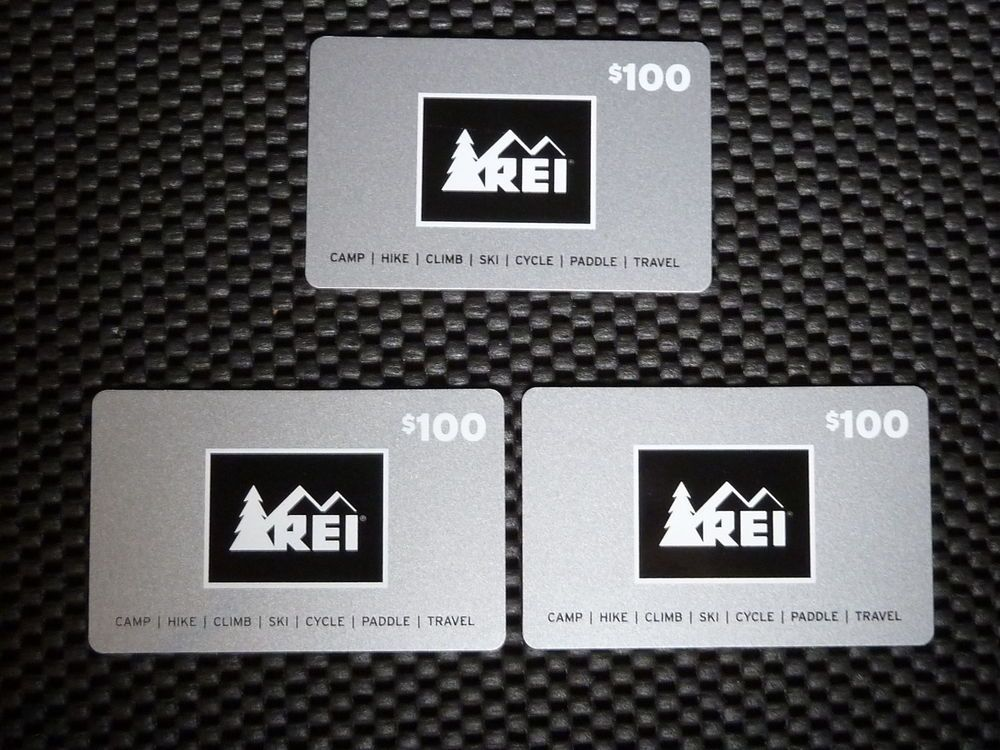 $300 REI Gift Card 300 Dollars Total Bucks Fast Free Shipping Unscratched @ebay stores.ebay.com/Vintage-Assets-LLC