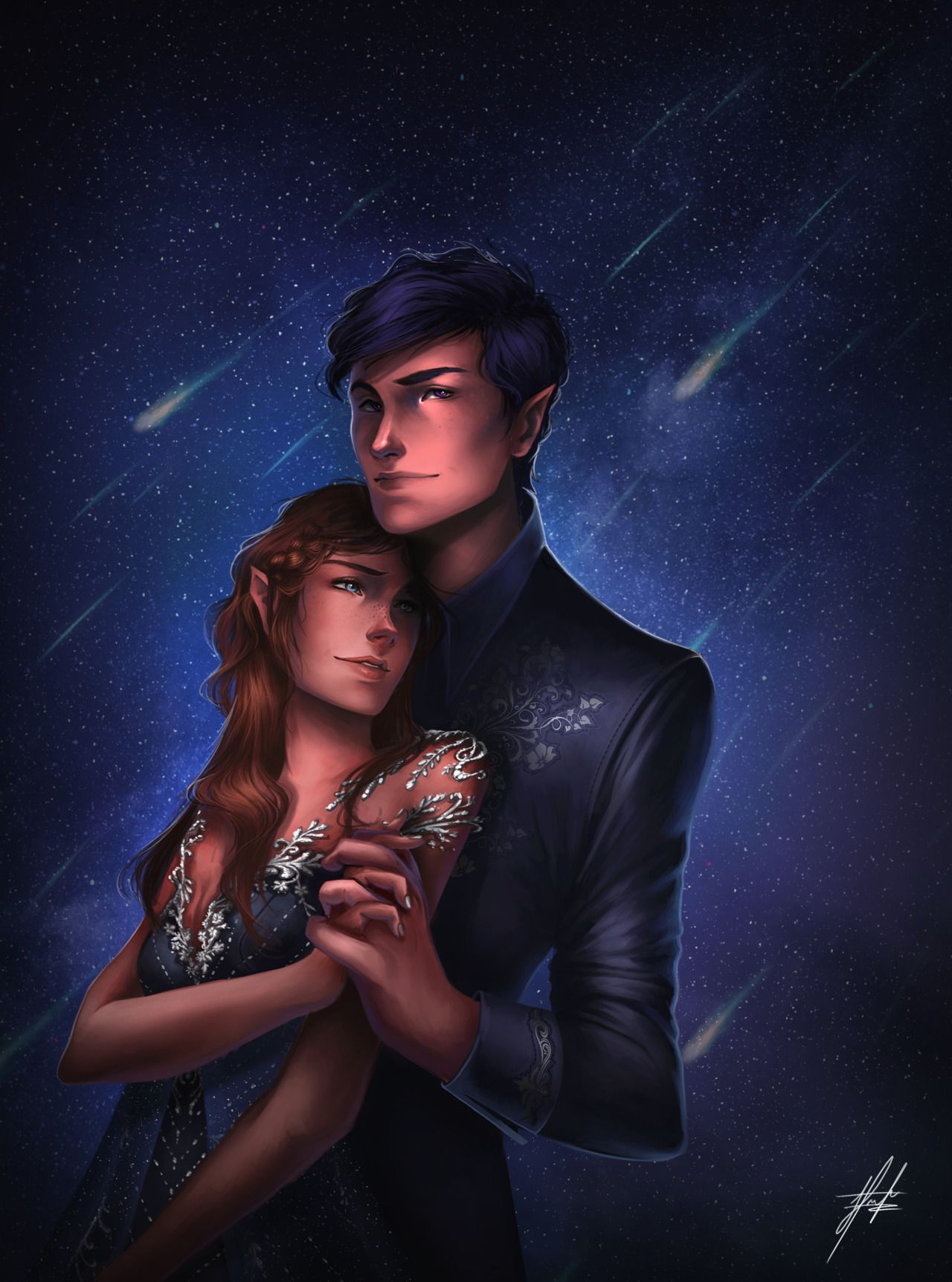 Rhysand X Feyre Archeron By Pojainter Acomaf A Court Of Mist And