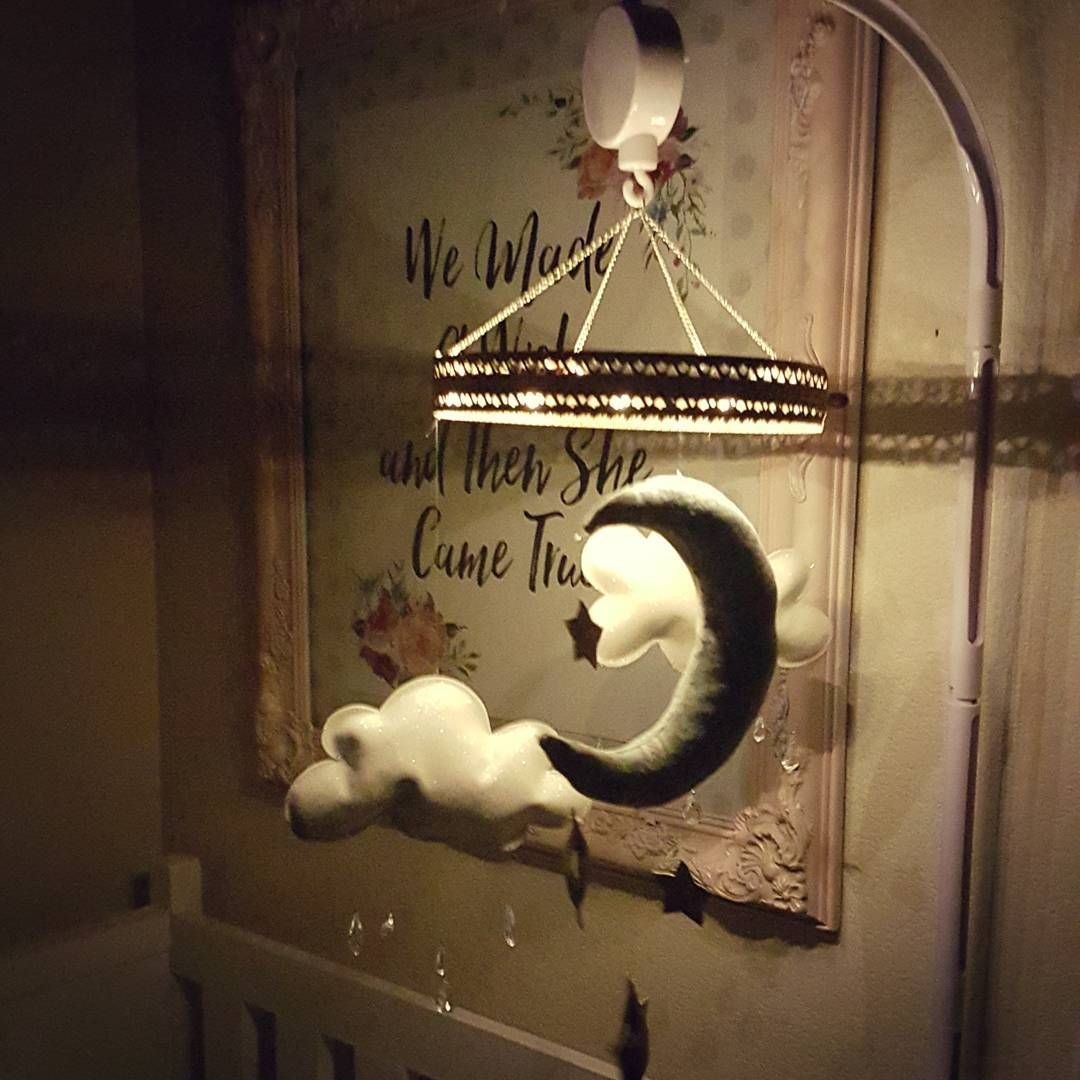 Crib mobile baby room moon and stars rainy clouds baby chandelier crib mobile baby room moon and stars rainy clouds baby chandelier mobile arubaitofo Image collections
