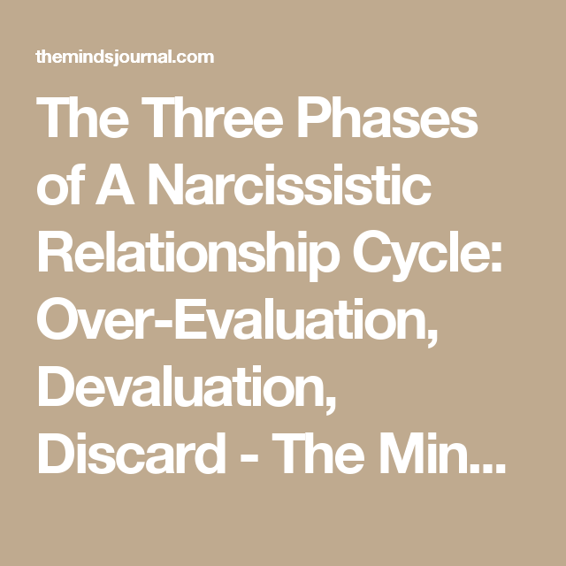 3 Phases Of A Narcissistic Relationship Cycle Idealize Devalue Discard Relationship Narcissist Relationship With A Narcissist