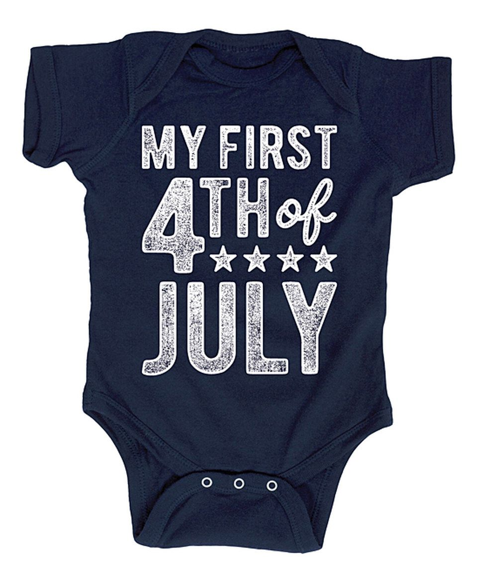 Look at this #zulilyfind! Navy 'My First Fourth of July' Bodysuit - Infant by Festuvius #zulilyfinds