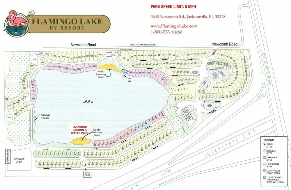 Flamingo Lake Rv Resort Layout Park Map Lake Resort Resort Lake