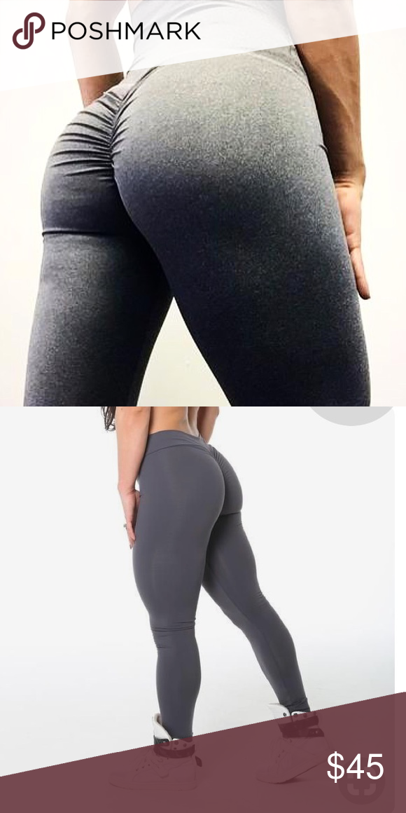 ce84bc2ab5 Brazilian Booty Butt Scrunch Leggings Bumbum COLOR: 👽DARK GREY (check other