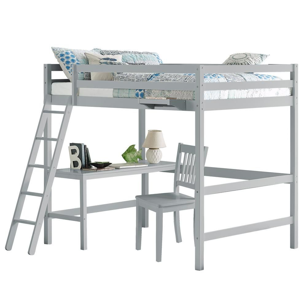 Hillsdale Furniture Caspian Gray Full Loft With Chair And Hanging Nightstand Hillsdale Furniture Furniture Twin Size Loft Bed