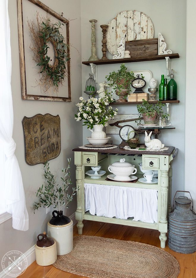 Photo of Farmhouse Easter Vignettes Home Tour