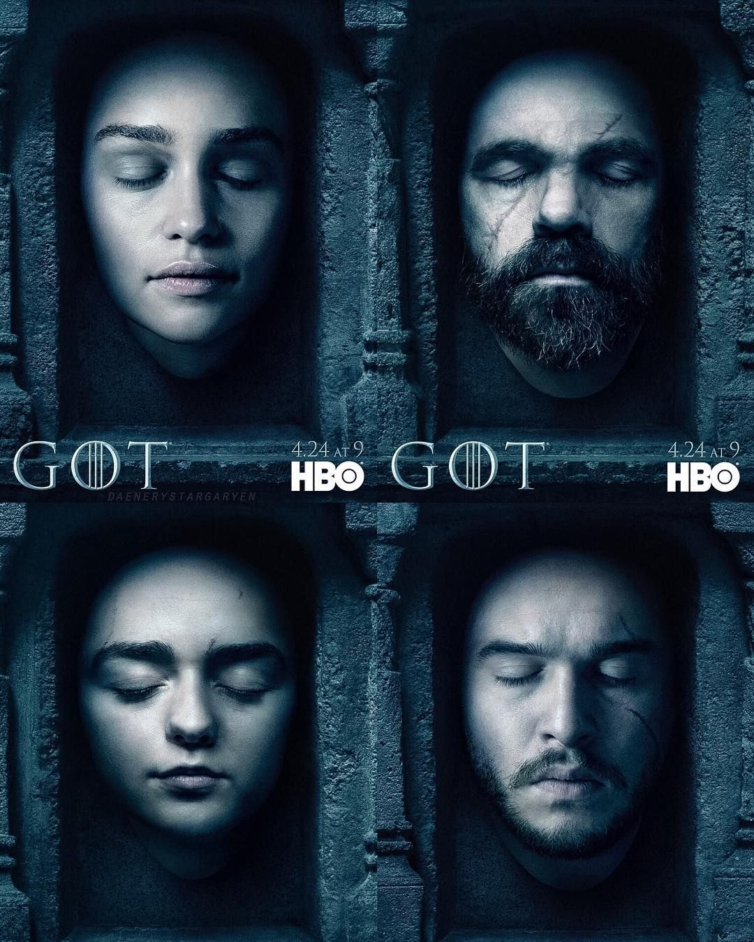 Official season 6 posters! There are more of other characters on the official GoT Twitter page! #gameofthrones #GoTSeason6 by daenerystargaryen
