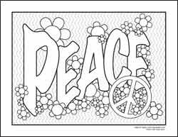 coloring pages of peace only bing images