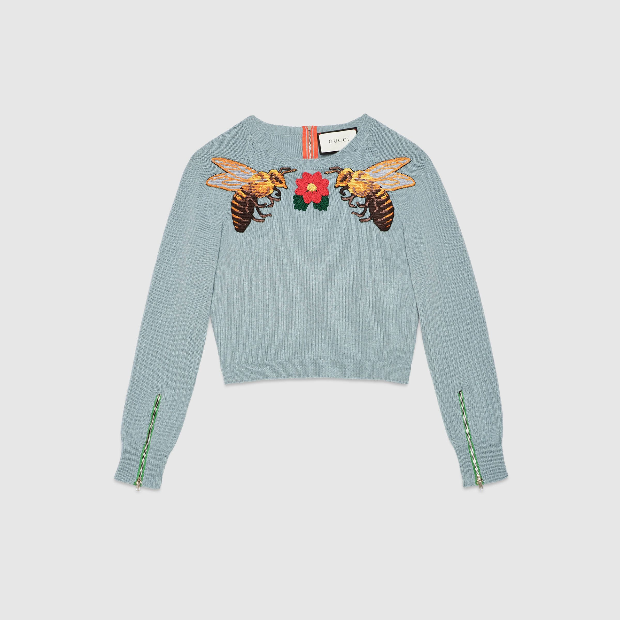 Gucci - Embroidered hoodie - 219453