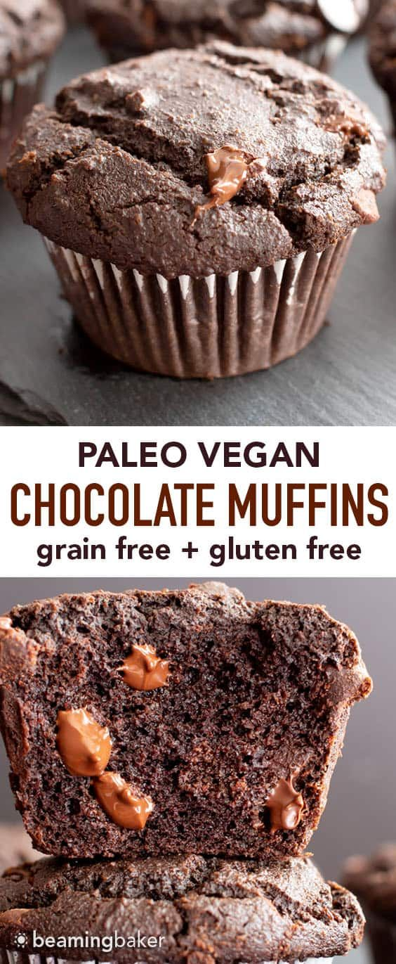 Paleo Chocolate Muffins Moist Gluten Free Chocolate Muffins With