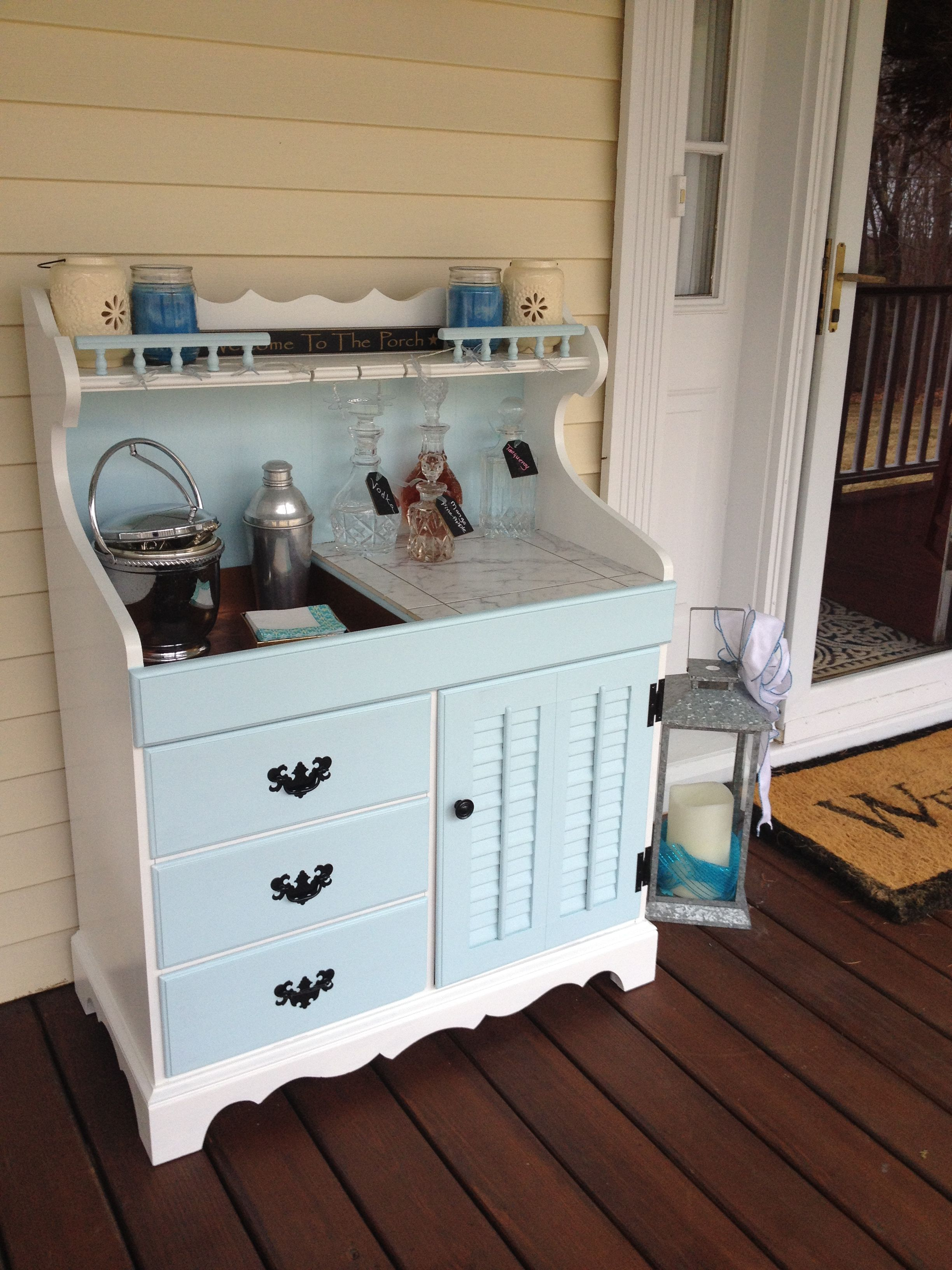 Dry Sink Makeover To Front Porch Bar Love This By Diana
