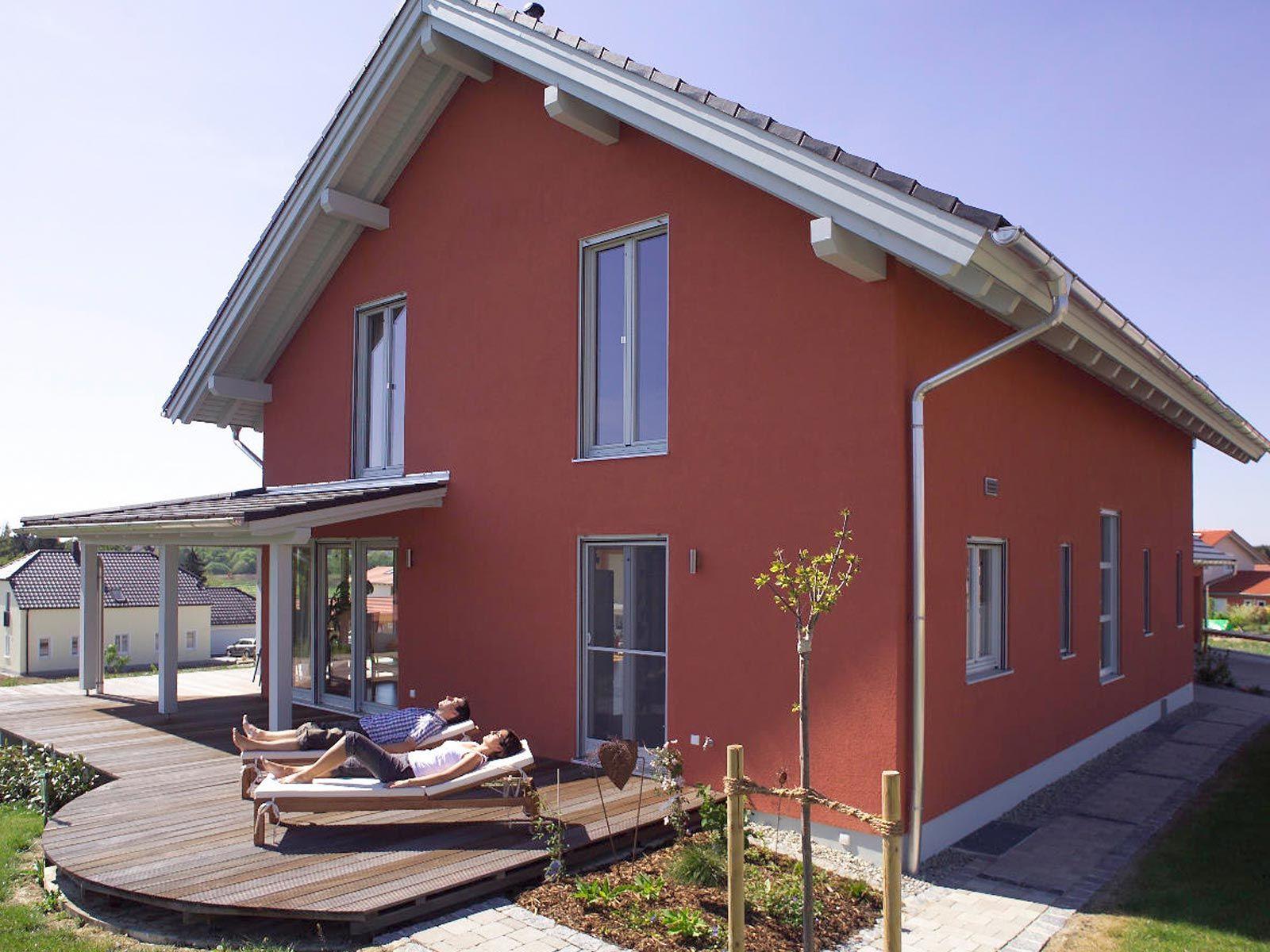Fertighaus satteldach  Individuell geplantes Kundenhaus • Ökohaus-Biohaus von Wolf System ...
