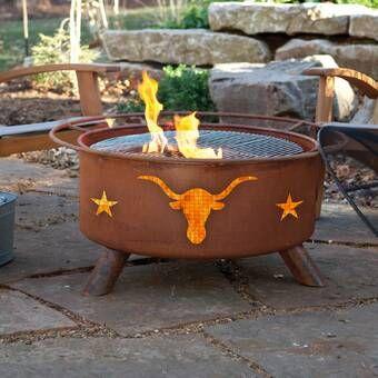 Quillen Steel Wood Burning Outdoor Fireplace in 2020 ... on Quillen Steel Wood Burning Outdoor Fireplace id=69576