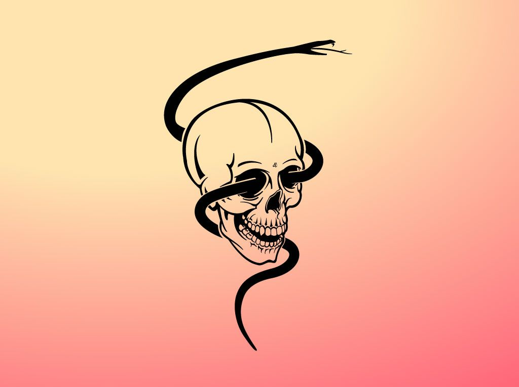 Snake Skull Graphic