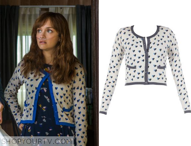 Bates Motel: Season 3 Episode 2 Emma's Heart Print Cardigan