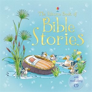 Wow- audio cd is beautiful, my kids  are so quiet in the car listening I thought one time I had left them at home (No worry I didn't - they were just that engaged listening).  Love the great illustrations. Book of Bible Stories  is one of the best Bible Books you can have for your children & church.  Usborne Books and More- L1982.myubam.com