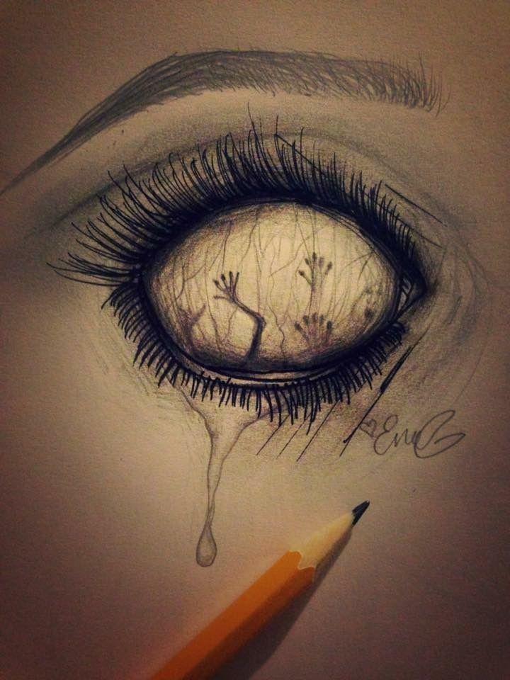 Spirit Eye Scary Drawings Dark Art Drawings Creepy Drawings